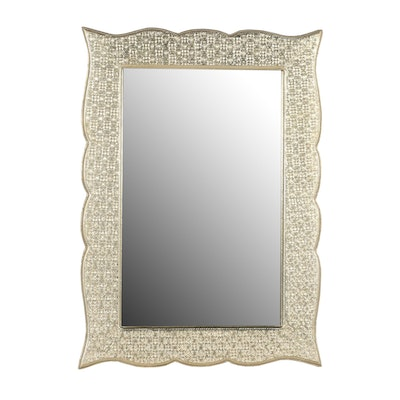 Home Outfitters Wall Mirror with Gilt Metal Overlay Frame