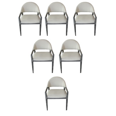 Contemporary Emerald Home Carrera Slate Gray Dining Chairs