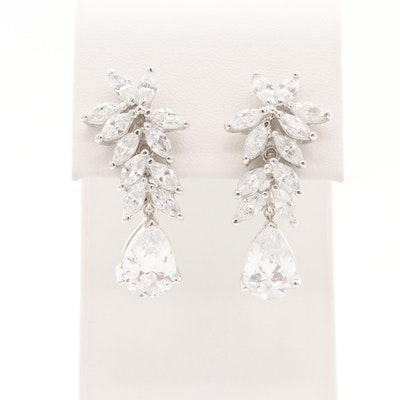 Dangle Cubic Zirconia Earrings