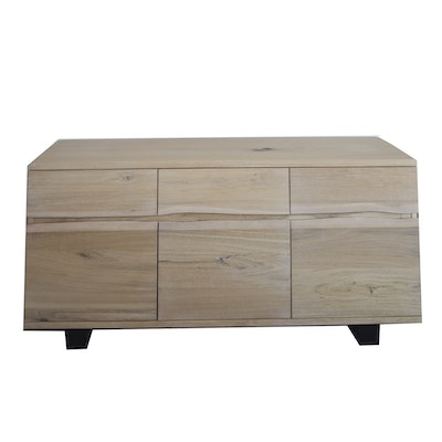Contemporary Engineered Wood Dresser with Natural Finish
