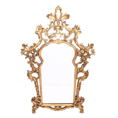 Italian Carved Giltwood Mirror, Circa 1920-40