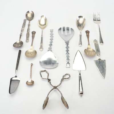 Collection of Serving Utensils Featuring Wallace