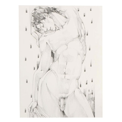 Figural Drawing of Male Nude
