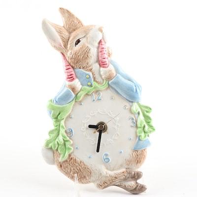 Beatrix Potter Ceramic Wall Clock