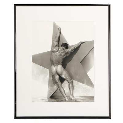 "Photographic Print ""Man with Star"" after Herb Ritts"