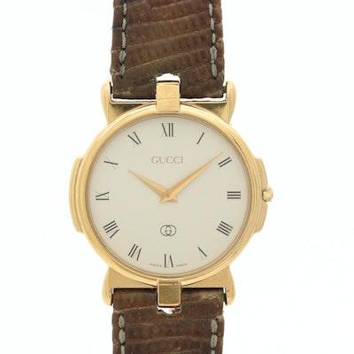 Vintage Gucci 3400 FM Gold Tone Quartz Wristwatch
