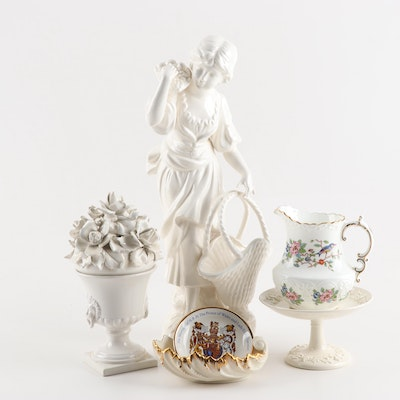 Decorative Porcelains and Ceramics including Wedgwood, Aynsley, and Lenox