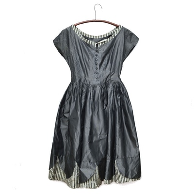 Suzy Brooks Taffeta Dress, 1950s Vintage