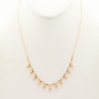 14K Yellow Gold Fringe Necklace