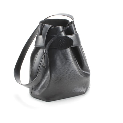 Louis Vuitton Black Epi Leather Sac d'Epaule Bag