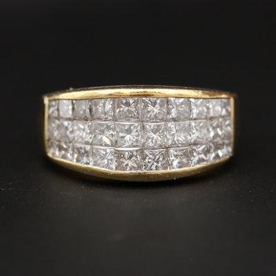 18K Yellow Gold 2.46 CTW Diamond Ring