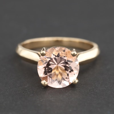 14K Yellow Gold Morganite Ring