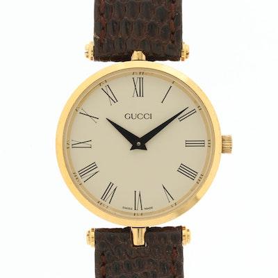 Vintage Gucci 2000M Gold Tone Quartz Wristwatch