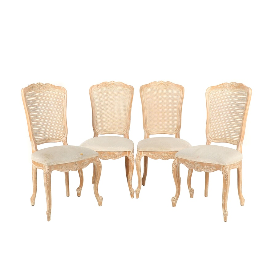 Century Chair Co., Four Louis XV Style Dining Side Chairs