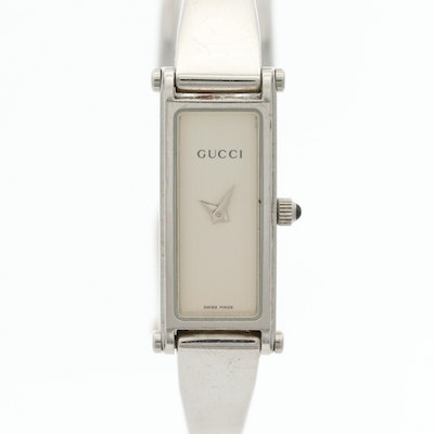Gucci Stainless Steel Bangle Style Wristwatch