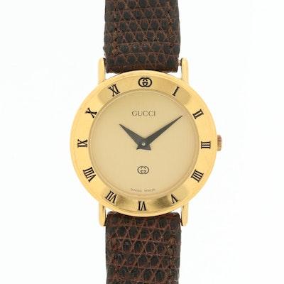 Vintage Gucci 3000L Gold Tone Quartz Wristwatch