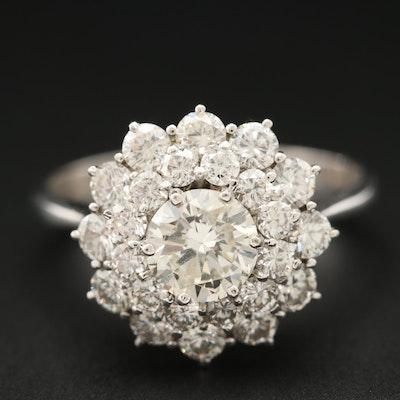 18K White Gold 1.79 CTW Diamond Ring