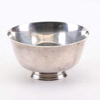 Tuttle Silversmiths Sterling Silver Revere Style Bowl, Mid-Century