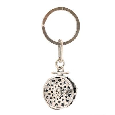Kabana Sterling Silver Fishing Reel Key Chain