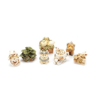 Harmony Kingdom Resin Figural Trinket Boxes