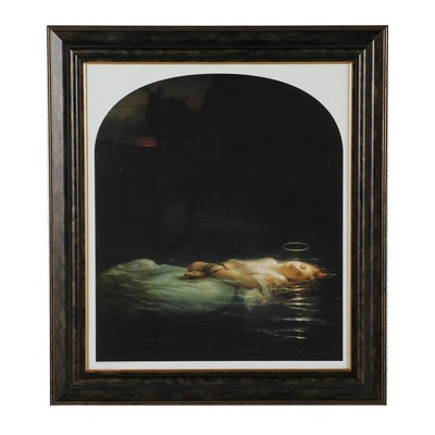 "Offset Lithograph after Paul Delaroche ""The Young Martyr"""