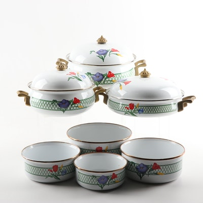Regency Club Floral Enamel Cookware