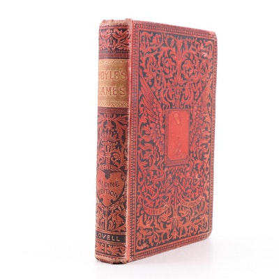 """1857 American Edition """"Hoyle's Games"""" Chess, Golf, Bowling and More Rule Book"""