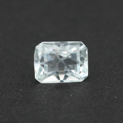Loose 0.90 CT Aquamarine Gemstone