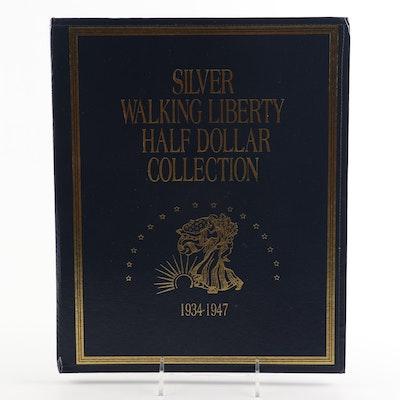 Walking Liberty Silver Half Dollars in American Historical Society Folder