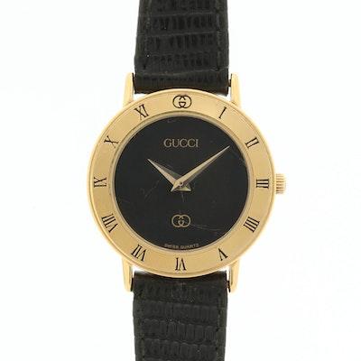 Vintage Gucci Gold Tone Quartz Wristwatch
