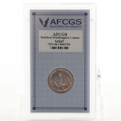 George Washington 250th Anniversary Silver Half Dollar