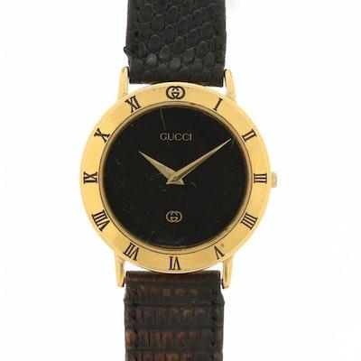 Vintage Gucci 3000M Gold Tone Quartz Wristwatch