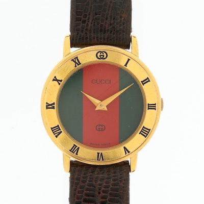 Vintage Gucci 3001L Gold Tone Quartz Wristwatch