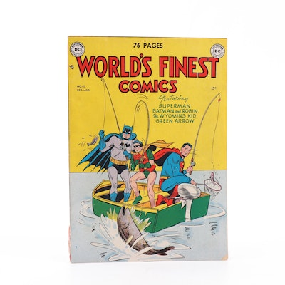 """1950 """"World's Finest Comics"""" #43 with Superman, Batman, and Wyoming Kid"""