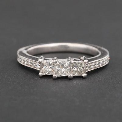 14K White Gold 1.19 CTW Diamond Ring