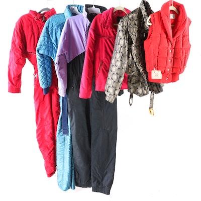 Women's Ski Jackets, Vest and Jumpsuits Including Bogner and Roffe