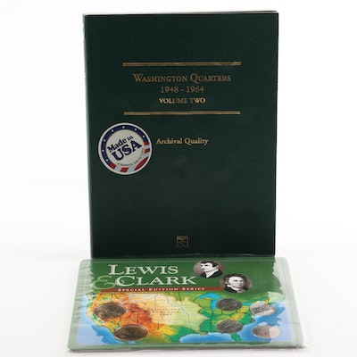 """Littleton """"Lewis & Clark"""" Special Edition Series and Two Washington Quarters"""