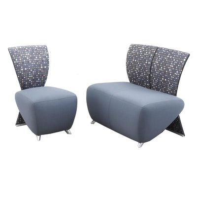 Retro Style Settee and Chair by Dauphin