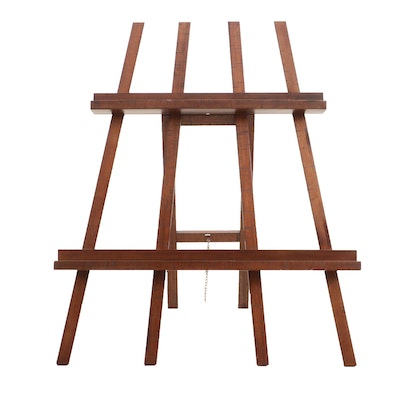 Mahogany Finished Art Easel, Contemporary