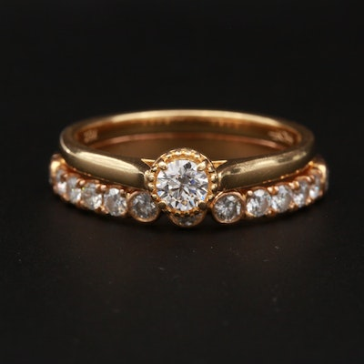 Hearts on Fire 18K Yellow Gold Diamond Ring Set