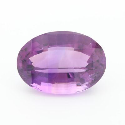 Loose 56.53 CT Oval Checkerboard Faceted Amethyst Gemstone