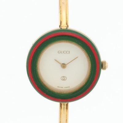Gucci Gold Plated 1100L Quartz Wristwatch