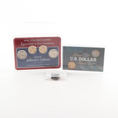 Kennedy Half Dollars and Sacagawea Dollar Coins