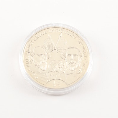 2000 $5 Republic of Liberia Battle of Gettysburg Commemorative Coin