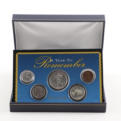 1939 Encapsulated American Historical Society Coin Set