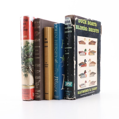 """Hunting and Fishing Books Including """"Sea Food Cookery"""""""