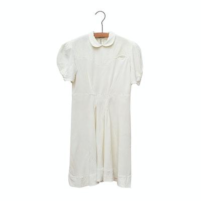 Rayon Day Dress, 1930s Vintage