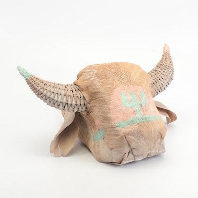 Southwestern Style Buffalo Shaped Hanging Planter