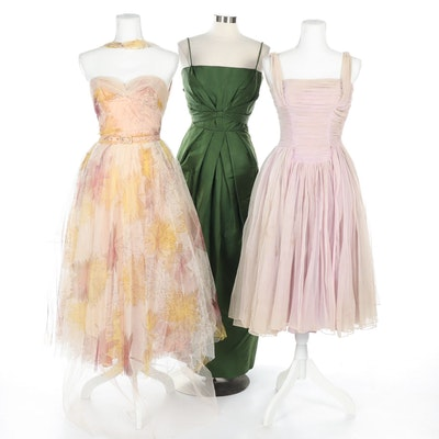 Trio of Vintage Evening Gowns, 1950s