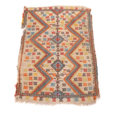 2'2 x 3'1 Handwoven Caucasian Soumak Rug, circa 1890s